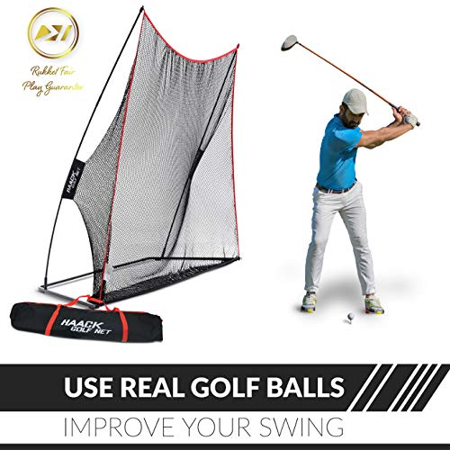 Rukket 10x7ft Haack Golf Net | Practice Driving Indoor and Outdoor | Golfing at Home Swing Training Aids | By SEC Coach Chris Haack by Rukket Sports (Image #1)