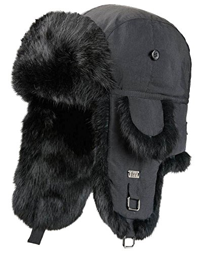 Used, frr Black B-52 Aviator Hat with Black Rabbit Fur - for sale  Delivered anywhere in USA