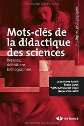 Mots-clés de la didactique des sciences : Repères, définitions, bibliographies