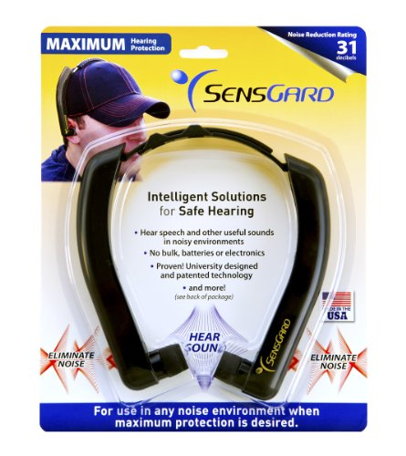 SensGard SG-31 Lightweight Hearing Protection Band NRR 31dB (Black)