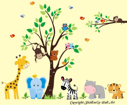 Baby Room Wall Decals - Safari Animal Wall Stickers - Kids Room Wall Prints - Nursery Wall Decals - Baby Swag - Baby Gift - Nursery Decorations