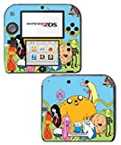 Adventure Time Jake Finn Princess Bubblegum Marceline Ice King BMO Video Game Vinyl Decal Skin Sticker Cover for Nintendo 2DS System Console