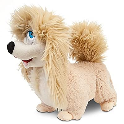 "Disney Exclusive Lady the Tramp 11 Inch Deluxe Plush Lhasa Apso Figure ""Peg\"": Toys & Games [5Bkhe0305142]"