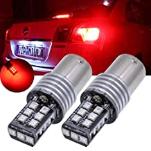 TUINCYN 2-Pack High Power 800 Lumens 1156 P21W BA15S 1141 7506 1073 1095 LED Lights 15SMD 2835 Backup Reverse Parking Tail Lights Brake LED Bulbs DC 12V 6500K Red