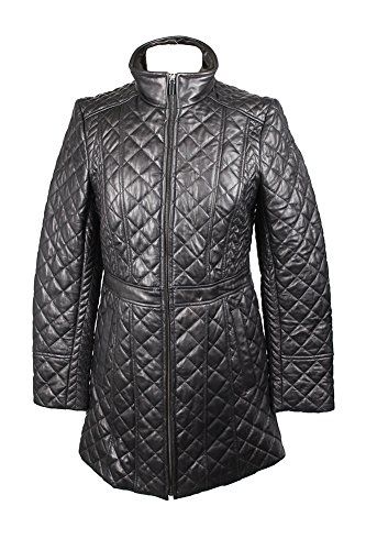 - Jones York Black Quilted Leather Jacket S