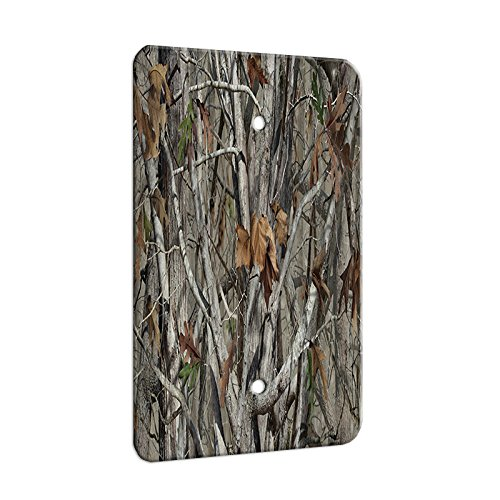 Trees Camouflage - Decor Switch Plate Cover Metal (1 Gang Blank) ()