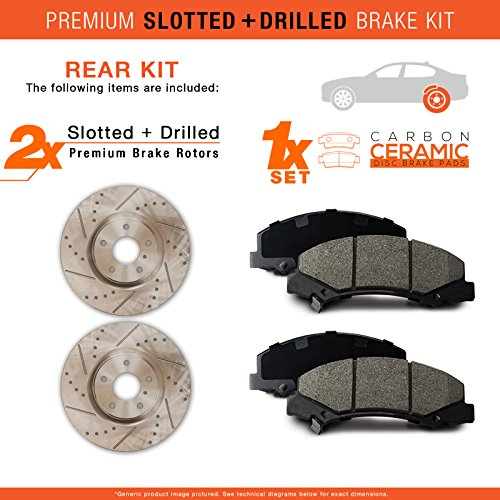 2006 2007 2008 2009 Honda Ridgeline Max Performance Ceramic Brake Pads F+R