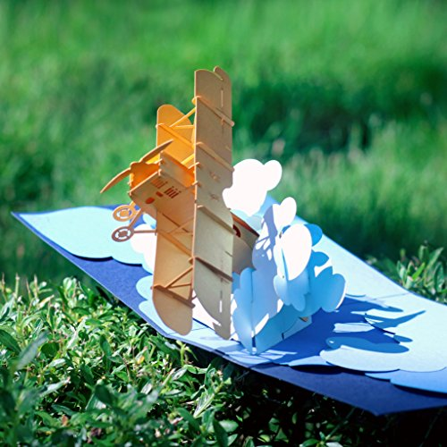 CUTEPOPUP 3d Pop Up Greeting Card AIRPLANE Flying Plane Best Gift Idea for Friends and Family, Thank You Cards, Valentine, Birthday. by CutePopup (Image #2)