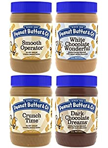 Peanut Butter & Co. Top Sellers Pack, Non-GMO, Gluten Free, Vegan, 16 Ounce Jars (Pack of 4)