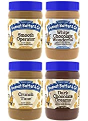 Our bestselling flavors in one pack. Dark Chocolate Dreams, White Chocolate Wonderful, Smooth Operator, and Crunch Time make up the dream team of our peanut butter varieties. More than just a sandwich spread, Peanut Butter & Co. peanut bu...