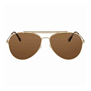 e2476d816a5 Image Unavailable. Image not available for. Color  Tom Ford Sunglasses 0497  Indiana 28H Shiny Rose Gold Brown Polarized