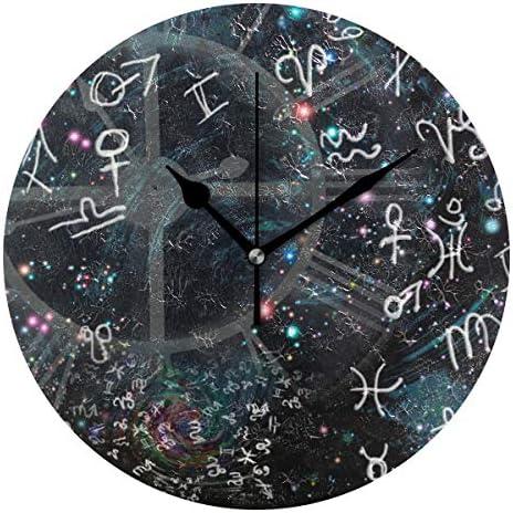 UKIO 掛け時計 置き時計 壁掛け時計 星座 星空 符号 部屋装飾 壁時計 インテリア おしゃれ かわいい アート 部屋 ウォールクロック 円型