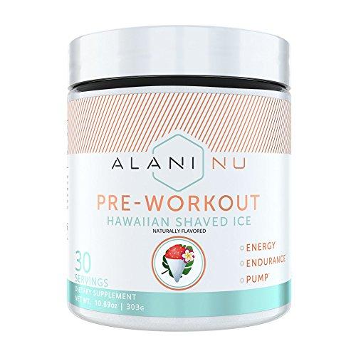 Alani Nu Pre Workout Powder w/Caffeine, L-Theanine & Beta Alanine, Hawaiian Shaved Ice, 30 Servings …