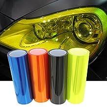 Silence Shopping 1 Pc 30cmX90cm Car Headlight Tail Light Fog Lamp Protective Vinyl Film Cover Overlay Protector 12 Colors