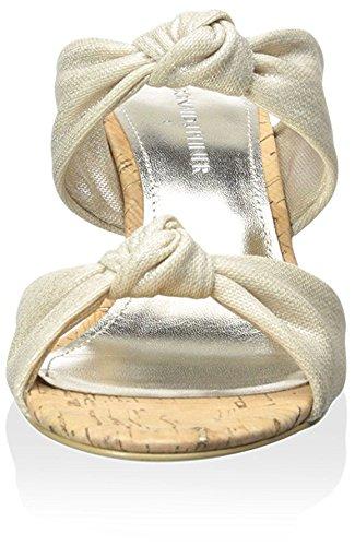 Knotted J Wedge Women's Slide Donald Platinum Pliner qtvUt1d