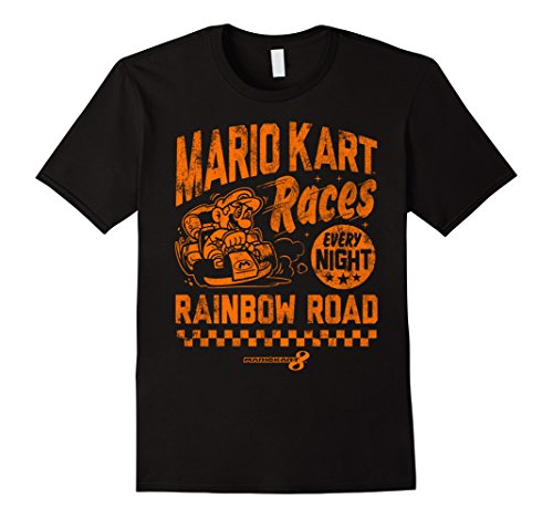 Nintendo Mario Kart Rainbow Road Vintage Graphic T-Shirt
