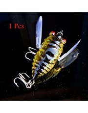 1pcs Cicada Minnow Fishing Lure Hard Tackle Bait Fishing Hook Bass Crankbit Hook