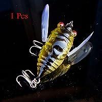 1pcs Cicada Minnow Fishing Lure Hard Tackle Bait Fishing Hook Bass Crankbit Hook