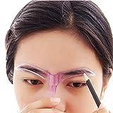 Lawn & Patio - Eyebrow Stencil Template; Mosunx Professional Beauty Tool Makeup Grooming Drawing Blacken Eyebrow Template (Color randomization)