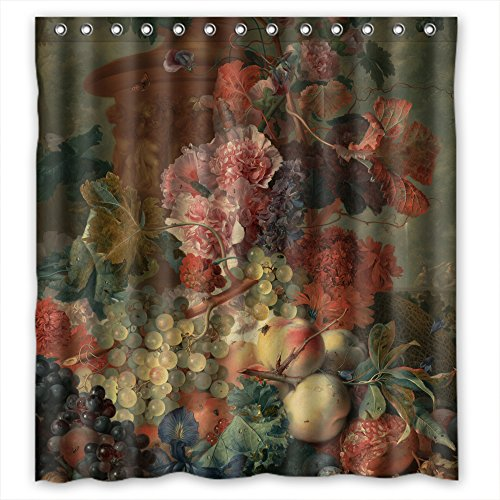 - MaSoyy The Famous Classic Art Painting Flowers Blossoms Bath Curtains Of Polyester Width X Height / 72 X 72 Inches / W H 180 By 180 Cm Decoration Gift For Relatives Father Custom Husband