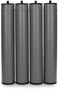 Dormidán - Patas Redondas, (4 Unidades) métrica 10 para somier o Base tapizada (25 cm)