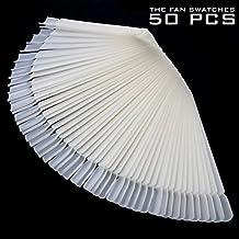 50 Nail Color Swatches Nail Art Display Ivory White Plastic Flase Nail Art Tips
