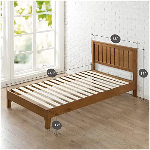 ZINUS Alexis Deluxe Wood Platform Bed Frame with Headboard / Wood Slat Support / No Box Spring Needed / Easy Assembly…