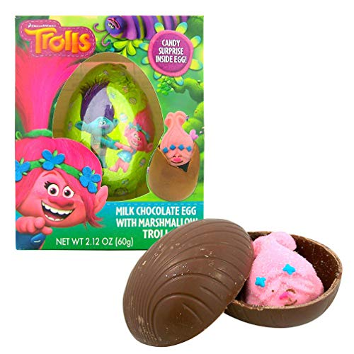 Marshmallow Eggs - Dreamworks Trolls Milk Chocolate Egg with