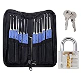 Qualitesty® 18 in 1 Stainless Steel Padlock Tools+ Practice Lock With Key