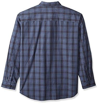 Arrow 1851 Men's Big and Tall Long Sleeve Plaid Shirt