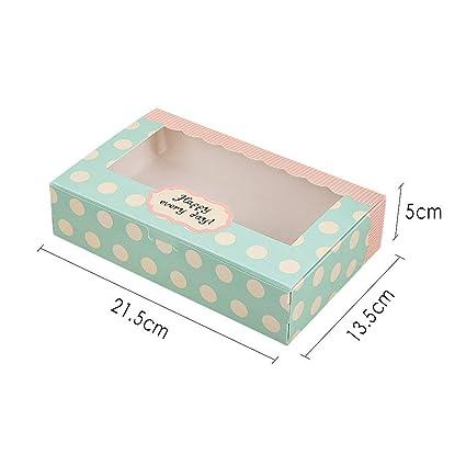 Lvcky - Juego de 12 Cajas de Papel para Tartas, Galletas, Pasteles, Pasteles