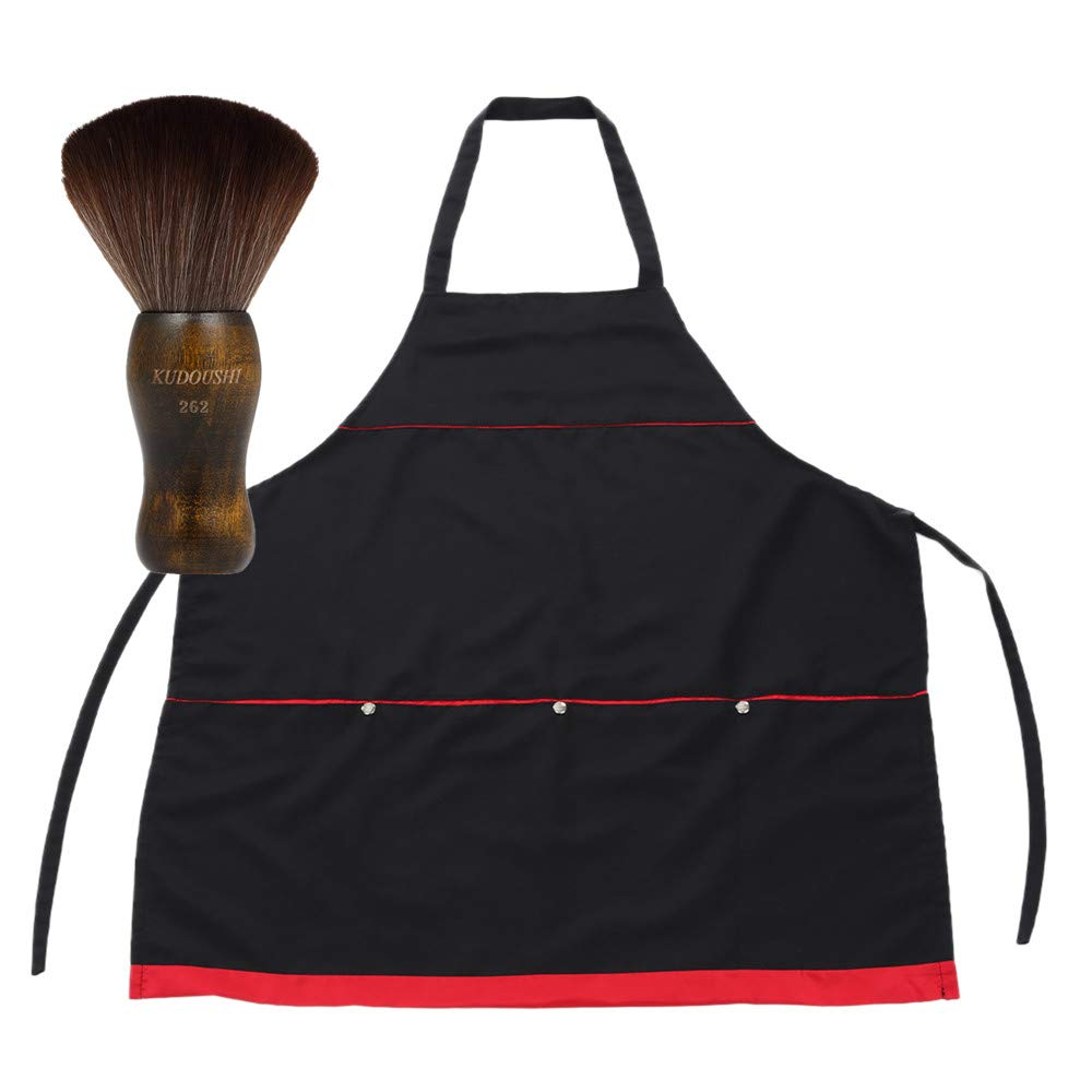Anself Hairdressing Workwear Barber Haircut Apron + Barber Neck Duster Hair Cutting Brush by Anself