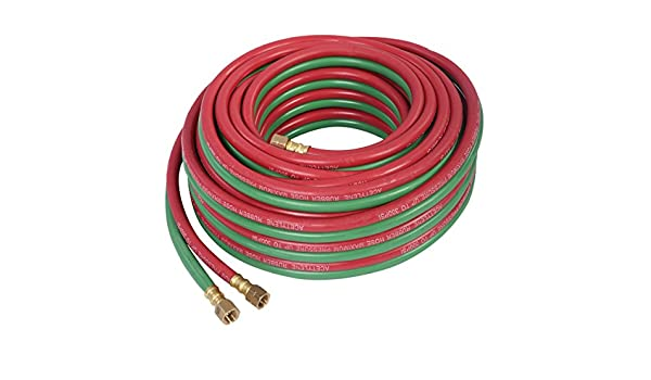 Twin Welding Torch Hose Oxygen Cutting 300PSI 50ft 1//4 inches Specifically Designed for Oxygen /& Acetylene Welding Perfect for Welding /& Cutting
