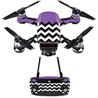 Skin for DJI Spark Mini Drone Combo - Purple Chevron| MightySkins Protective, Durable, and Unique Vinyl Decal wrap cover | Easy To Apply, Remove, and Change Styles | Made in the USA