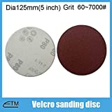 Maslin 100pcs hook and loop sanding discs pneumatic grinding machine dedicated back velvet sandpaper disc 60#~7000# TF005 - (Grit: 5000)