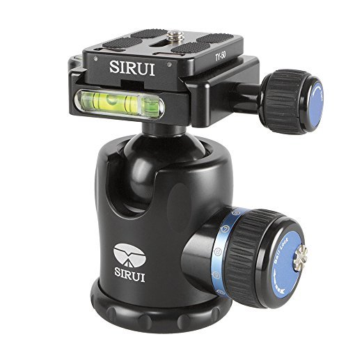 Sirui K-10X 33mm Ballhead with Quick Release, 44.1 lbs Load Capacity by Sirui