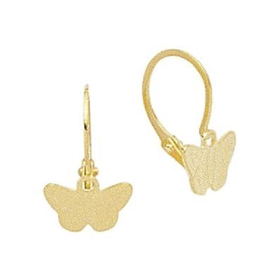 So Chic Bijoux C Boucles D Oreilles Enfant Papillons Dormeuses Or
