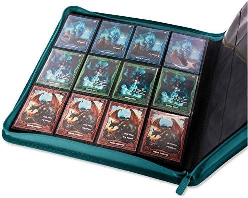 Sand Ultimate Guard XenoSkin Quadrow Zipfolio 12 Pocket Card Storage Binder Portfolio