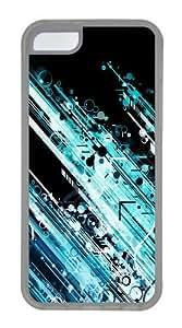 Circles And Lines Custom iPhone 5C Case Cover TPU Transparent