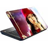 meSleep Flying Kiss Girl Laptop Skin