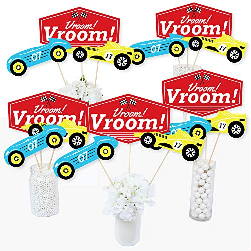 Let's Go Racing - Racecar - Race Car Birthday Party or Baby Shower Centerpiece Sticks - Table Toppers - Set of 15