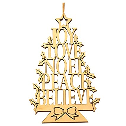 sodialr wooden christmas tree alphabet tree to celebrate christmas christmas tree decorations - Amazon Christmas Tree Decorations