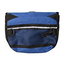 Dog Treat Pouch Obedience Treat Bag With Adjustable Belt (Blue)