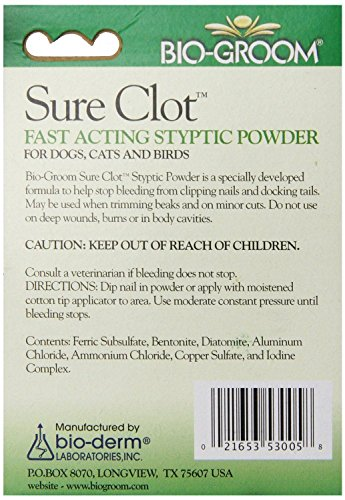 Bio-Groom-Sure-Clot-Styptic-Powder-Fast-Acting-For-Dogs-Cats-and-Birds-14-gram