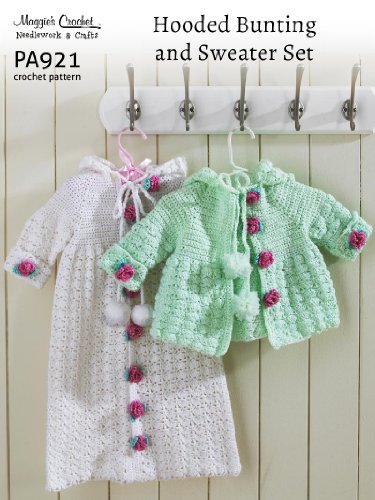 Crochet Pattern Hooded Bunting and Sweater Set PA921-R