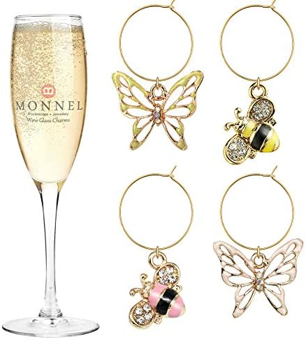 Haiabei 12 Pcs PVC Christmas Wine Charms Wine Glass Markers Wine Glass Tags Drink Markers with a Storage Bag