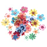 BESTONZON 360Pcs Edible Flowers Cupcake Toppers Wedding Cake Party Dessert Food Decoration