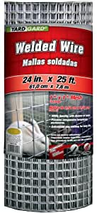 G & B 309312A 24-Inch x 25-Foot 1-Inch Galvanized Mesh Welded Mesh Fence