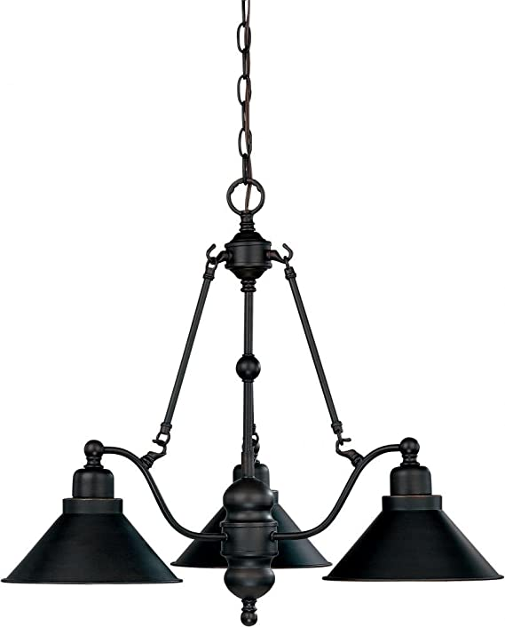 nuvo lighting 60 1701 three light chandelier bridgeview mission Italian Style Ceiling Fans nuvo lighting 60 1701 three light chandelier bridgeview mission light amazon