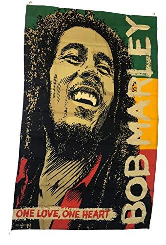 Redhat Bob Marley One Love, One Heart 3' x 5' Indoor/Outdoor Flag